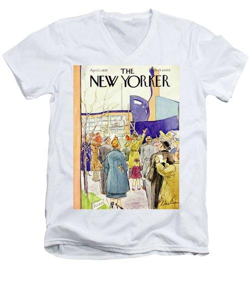 New Yorker April 1 1939 Men's V-Neck T-Shirt