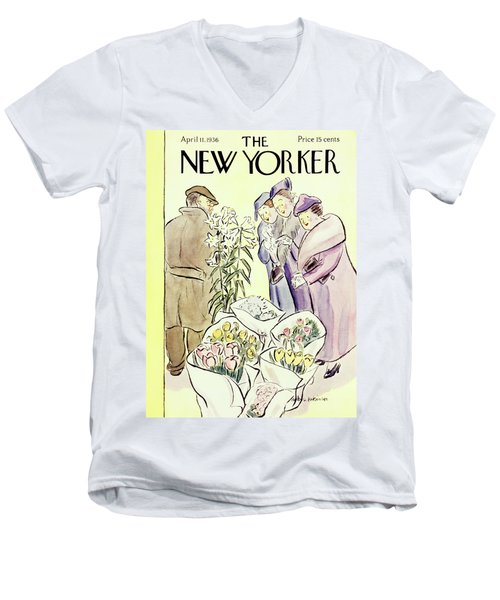 New Yorker April 11 1936 Men's V-Neck T-Shirt