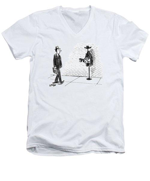 New Yorker April 13th, 1992 Men's V-Neck T-Shirt