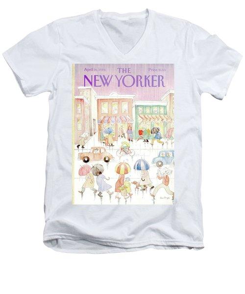 New Yorker April 16th, 1984 Men's V-Neck T-Shirt