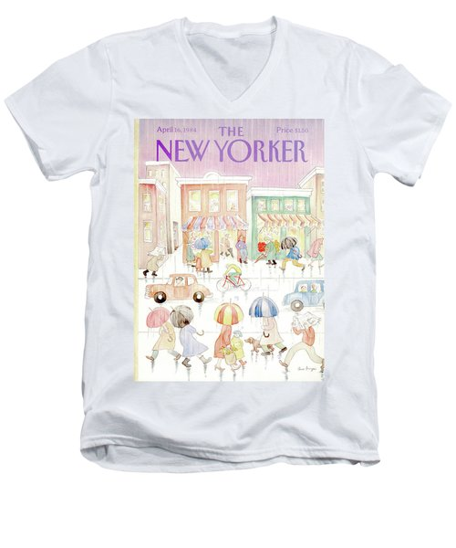 New Yorker April 16th, 1984 Men's V-Neck T-Shirt
