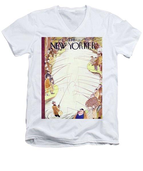 New Yorker April 18 1936 Men's V-Neck T-Shirt