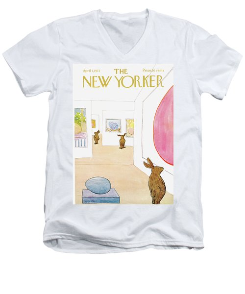 New Yorker April 1st, 1972 Men's V-Neck T-Shirt