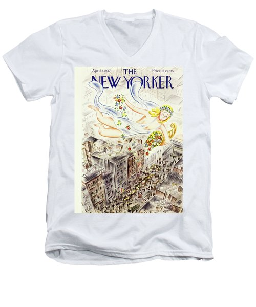 New Yorker April 2 1937 Men's V-Neck T-Shirt