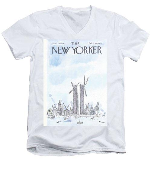 New Yorker April 29th, 1974 Men's V-Neck T-Shirt