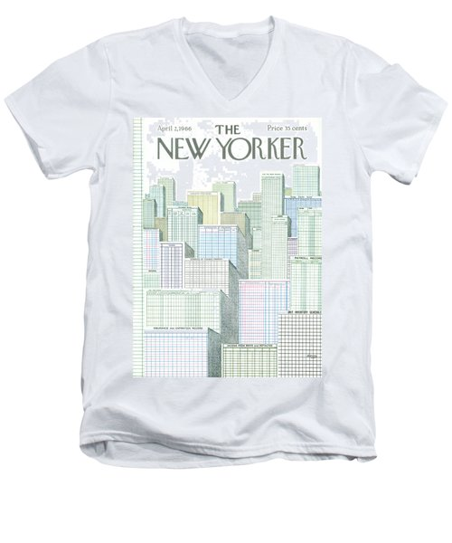 New Yorker April 2nd, 1966 Men's V-Neck T-Shirt