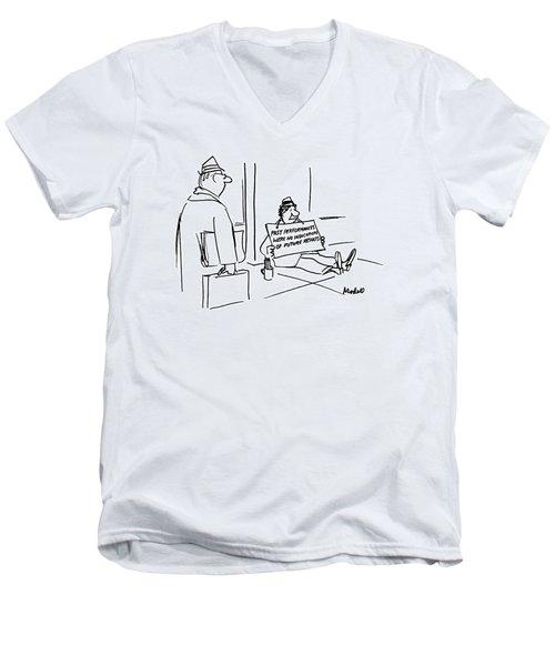 New Yorker April 30th, 1990 Men's V-Neck T-Shirt