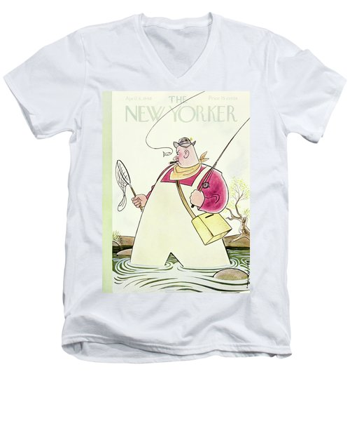 New Yorker April 6 1940 Men's V-Neck T-Shirt