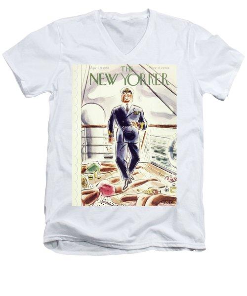 New Yorker April 9 1938 Men's V-Neck T-Shirt