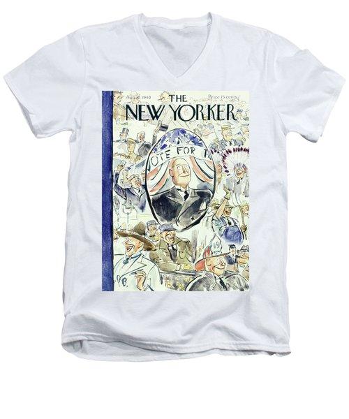 New Yorker August 10 1940 Men's V-Neck T-Shirt