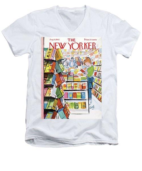 New Yorker August 11th, 1962 Men's V-Neck T-Shirt