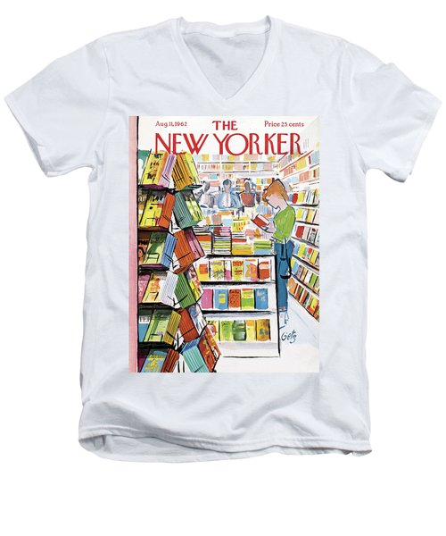 New Yorker August 11th, 1962 Men's V-Neck T-Shirt