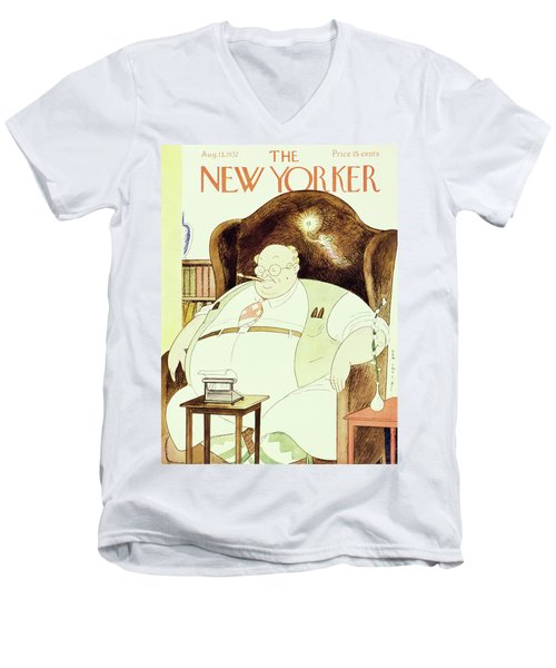 New Yorker August 13 1932 Men's V-Neck T-Shirt