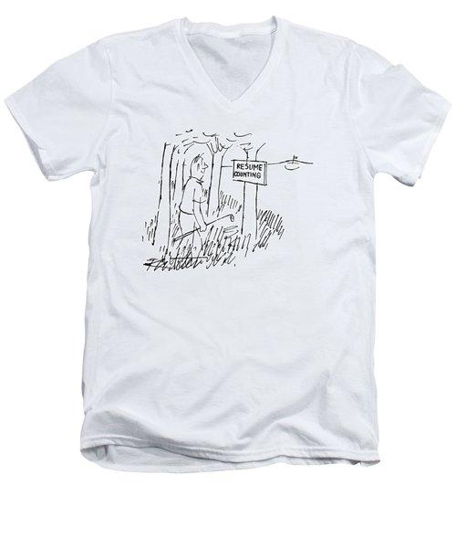 New Yorker August 13th, 1955 Men's V-Neck T-Shirt