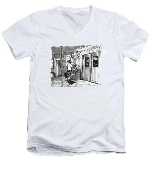 New Yorker August 14th, 1995 Men's V-Neck T-Shirt