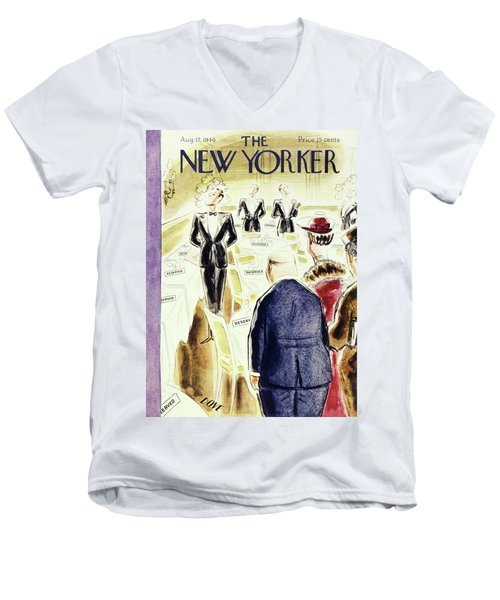 New Yorker August 17 1940 Men's V-Neck T-Shirt
