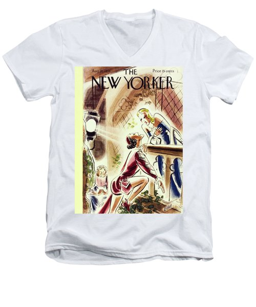 New Yorker August 20 1938 Men's V-Neck T-Shirt
