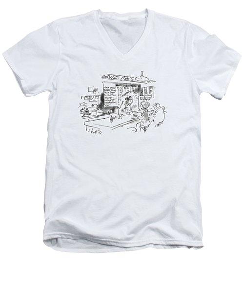 New Yorker August 21st, 1995 Men's V-Neck T-Shirt