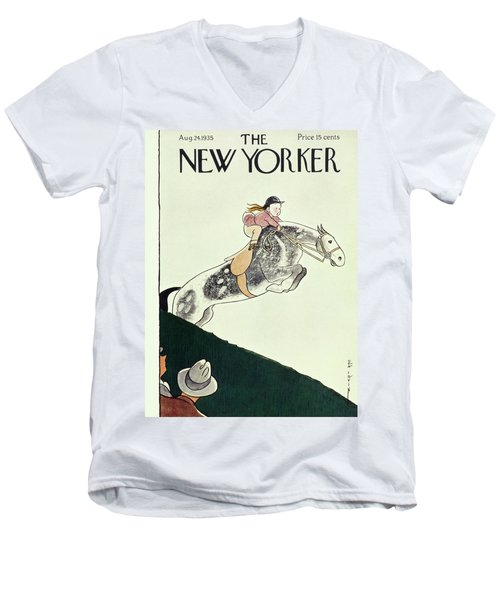 New Yorker August 24 1935 Men's V-Neck T-Shirt