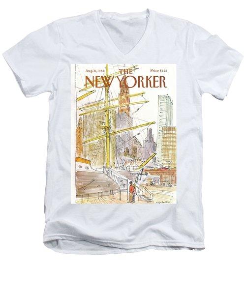 New Yorker August 31st, 1981 Men's V-Neck T-Shirt