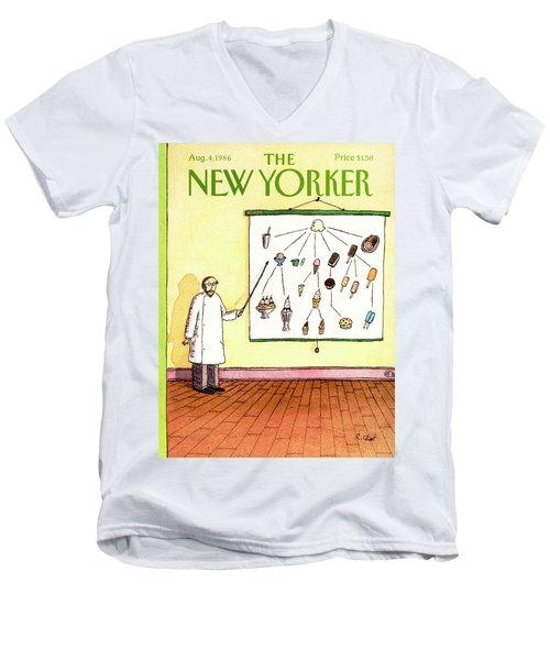 New Yorker August 4th, 1986 Men's V-Neck T-Shirt