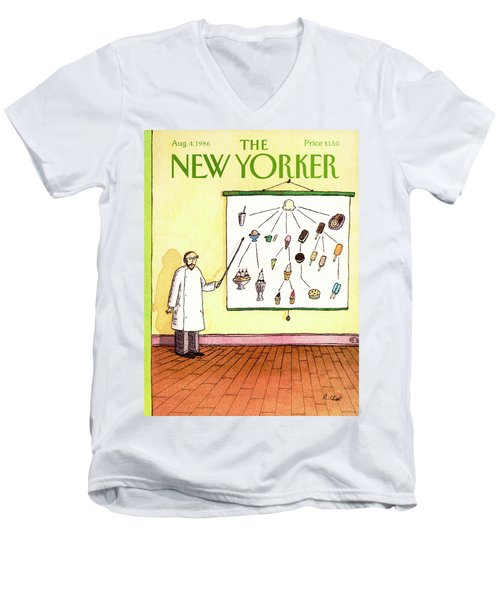 New Yorker August 4th, 1986 Men's V-Neck T-Shirt