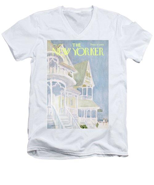 New Yorker August 5th, 1967 Men's V-Neck T-Shirt