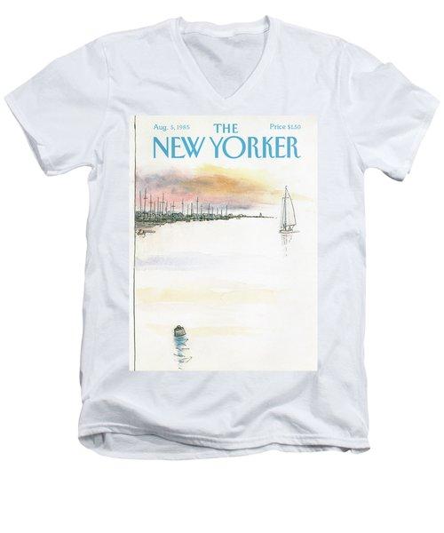 New Yorker August 5th, 1985 Men's V-Neck T-Shirt
