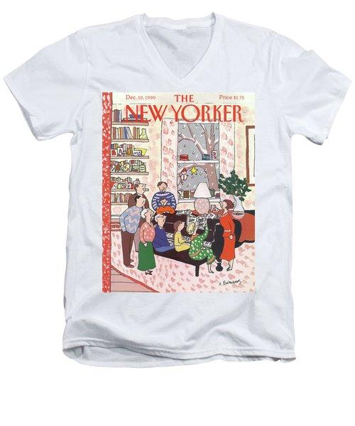 New Yorker December 10th, 1990 Men's V-Neck T-Shirt