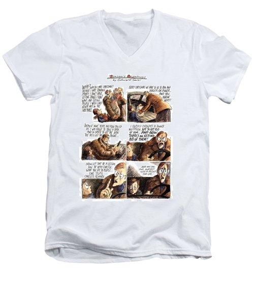 New Yorker December 12th, 1994 Men's V-Neck T-Shirt