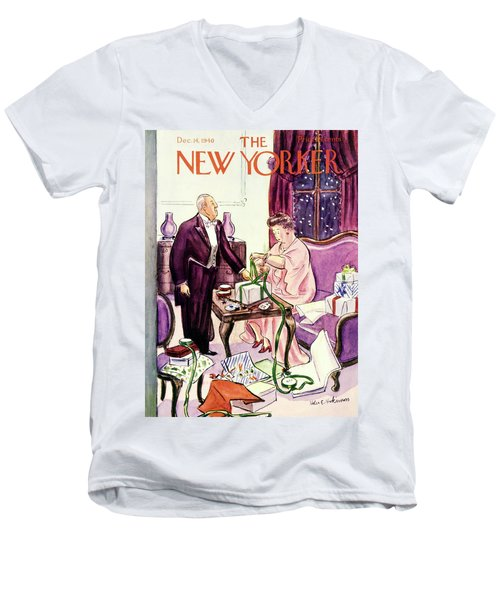 New Yorker December 14 1940 Men's V-Neck T-Shirt