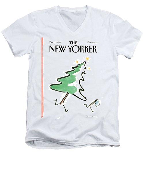 New Yorker December 19th, 1988 Men's V-Neck T-Shirt