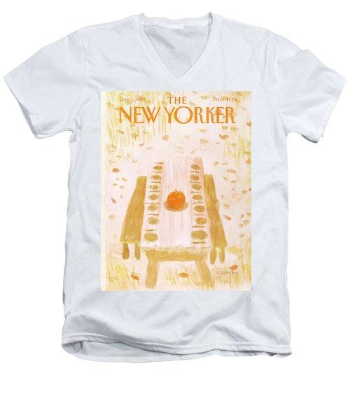 New Yorker December 1st, 1980 Men's V-Neck T-Shirt