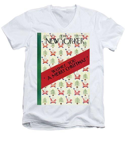 New Yorker December 21 1929 Men's V-Neck T-Shirt