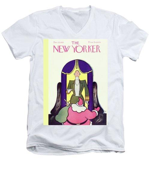 New Yorker December 25 1926 Men's V-Neck T-Shirt