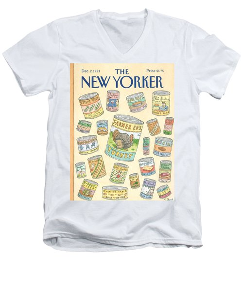 New Yorker December 2nd, 1991 Men's V-Neck T-Shirt