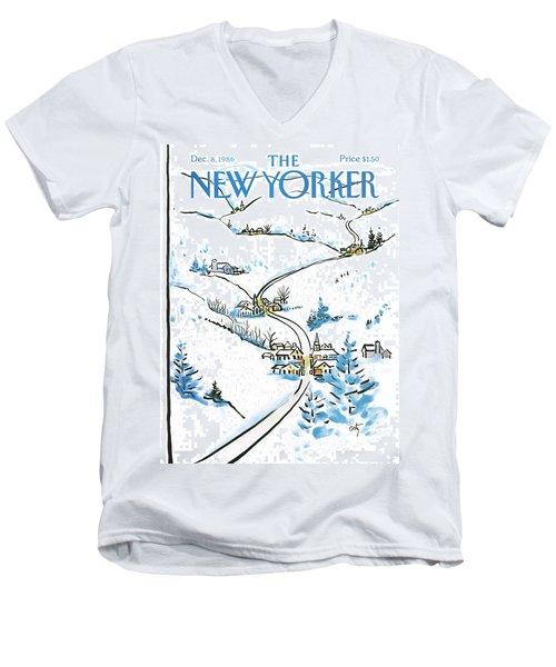 New Yorker December 8th, 1986 Men's V-Neck T-Shirt