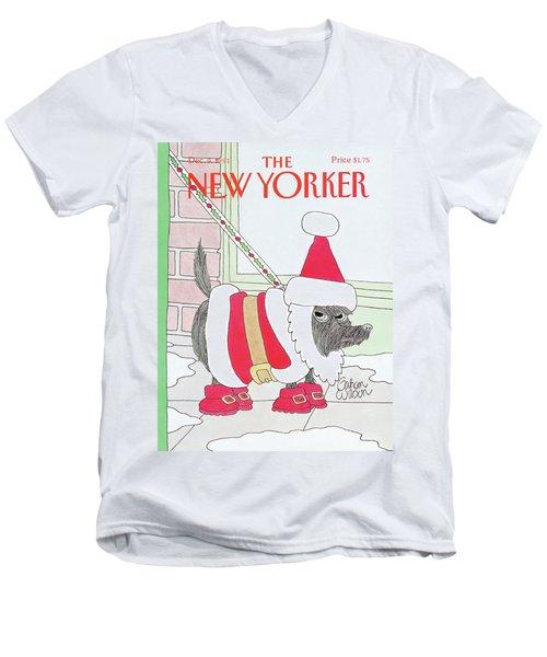 New Yorker December 9th, 1991 Men's V-Neck T-Shirt