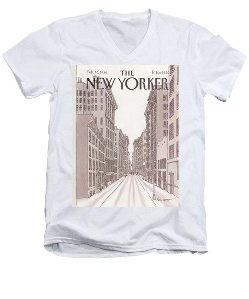 New Yorker February 10th, 1986 Men's V-Neck T-Shirt