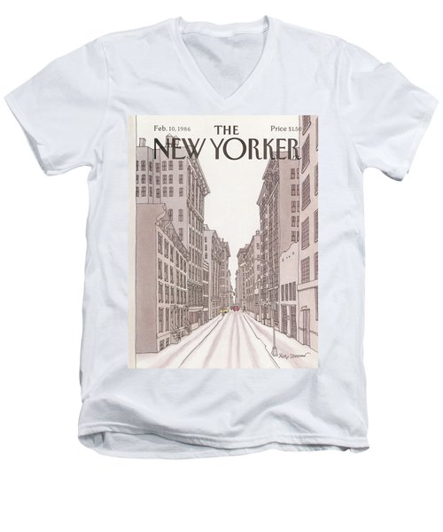 New Yorker February 10th, 1986 Men's V-Neck T-Shirt