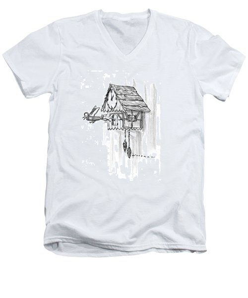 New Yorker February 10th, 1997 Men's V-Neck T-Shirt by Bill Woodman