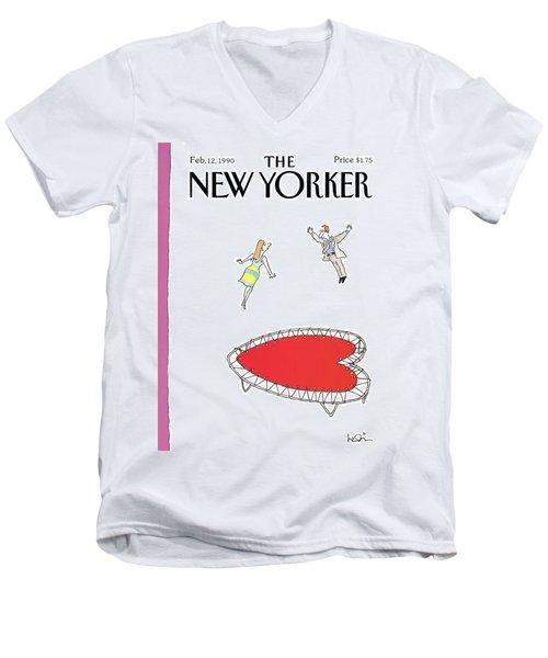 New Yorker February 12th, 1990 Men's V-Neck T-Shirt