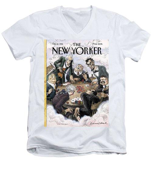 New Yorker February 12th, 1996 Men's V-Neck T-Shirt