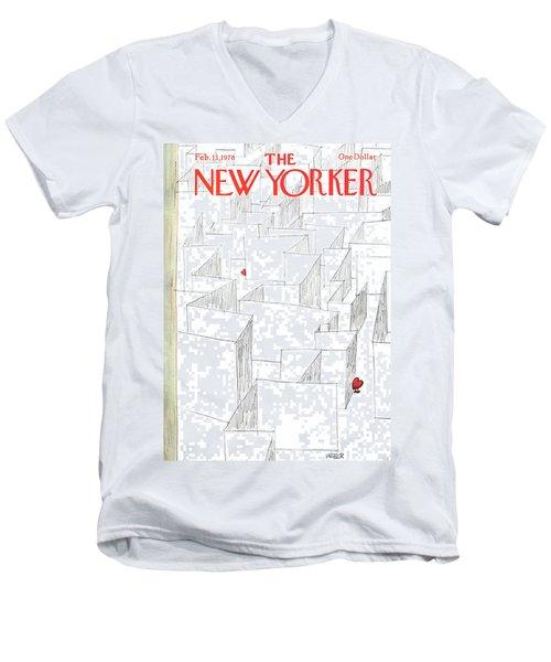 New Yorker February 13th, 1978 Men's V-Neck T-Shirt