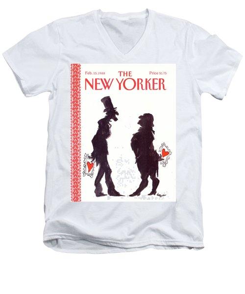 New Yorker February 15th, 1988 Men's V-Neck T-Shirt
