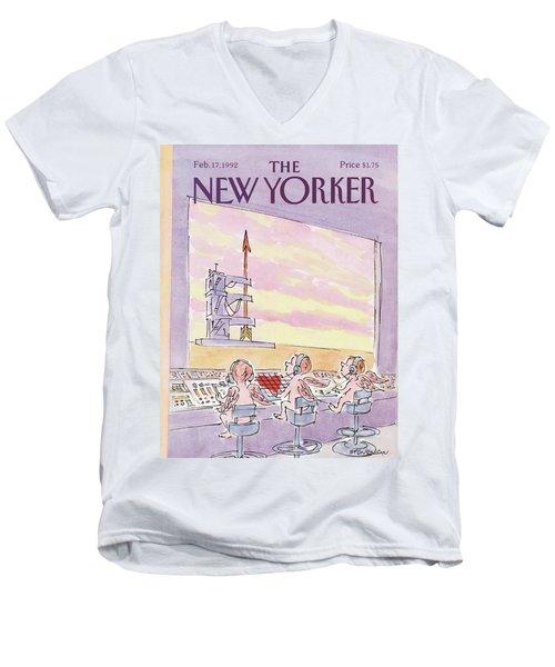 New Yorker February 17th, 1992 Men's V-Neck T-Shirt
