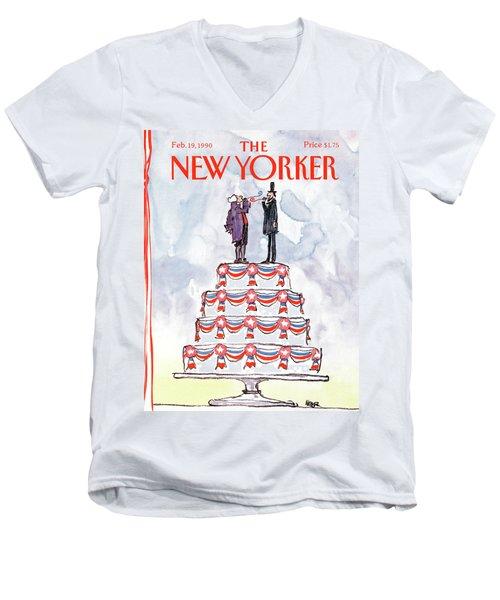 New Yorker February 19th, 1990 Men's V-Neck T-Shirt