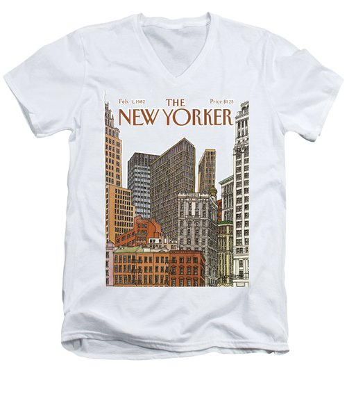 New Yorker February 1st, 1982 Men's V-Neck T-Shirt