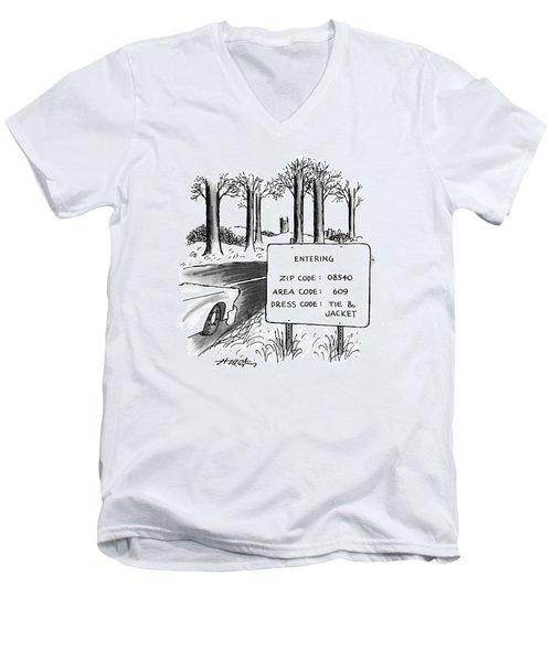 New Yorker February 1st, 1993 Men's V-Neck T-Shirt