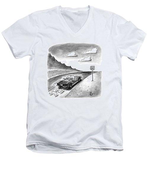 New Yorker February 23rd, 1998 Men's V-Neck T-Shirt